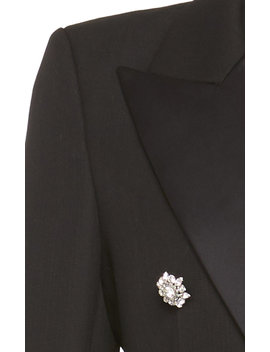 Embellished Double Breasted Wool Crepe Blazer by Alexandre Vauthier