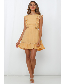 Love That About You Dress Yellow by Hello Molly