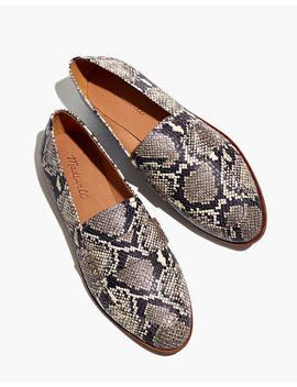 The Alex Loafer In Snake Embossed Leather by Madewell