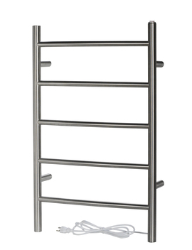 See All 5 Bar Stainless Steel Electric Towel Warmer Wall Mounted Hardwired/ Softwired Combo In Brushed Finish by See All