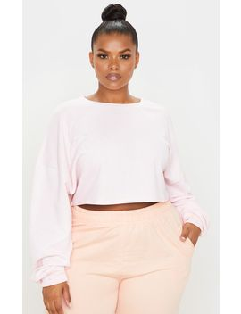 Plus Blush Crop Sweater by Prettylittlething