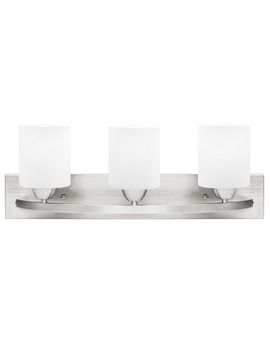 Best Choice Products 3 Light Vanity Wall Sconce Lighting Fixture For Home, Bathroom, Bedroom W/ Frosted Glass   Silver by Best Choice Products