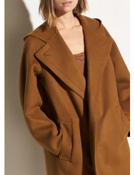 Hooded Wool Coat by Vince