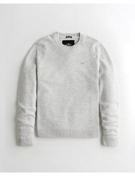 Wool Blend Crewneck Sweater by Hollister