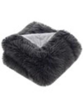 Safavieh Faux Fur Dark Gray 60 In W Acrylic Throw by Lowe's