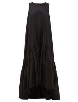 Venus Tiered Taffeta Maxi Dress by Romance Was Born