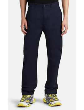 Cotton Twill Flat Front Trousers by Balenciaga