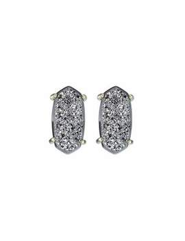 Kendra Scott Betty Druzy Stud Earrings, Platinum by Kendra Scott