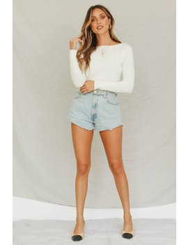 Viewpoint Ribbed Knit Top // White by Vergegirl