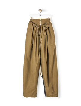 Double Waistband Trousers       Khaki Green by Loewe