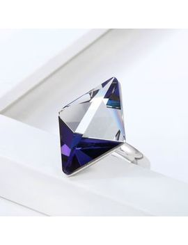 Muscovite   Swarovski Elements Rhombus Ring by Muscovite