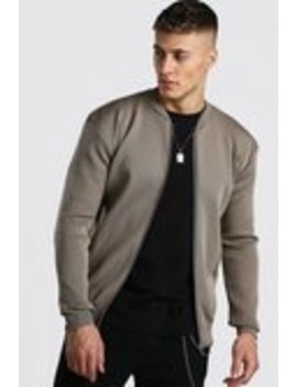 Smart Knitted Bomber by Boohoo Man