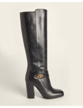Black Tall Leather Boots by Mulberry