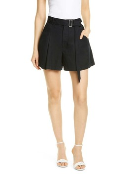 Flared Cotton & Linen Shorts by La Vie Rebecca Taylor