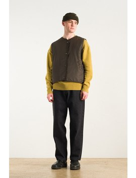 Menswear | Reversible Bubble Vest, Khaki by Olive