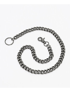 Stone + Locket Gunmetal Grey Wallet Chain by Stone + Locket