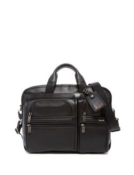 Alpha T Pass™' Medium Screen Laptop Slim Leather Briefcase by Tumi