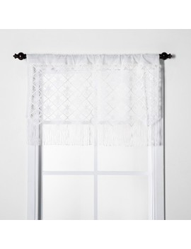 "24""X41"" Macrame Sheer Window Valance White   Opalhouse™ by Shop Collections"