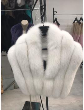 Fur Stole Real Fox Fur Shawl White by Etsy