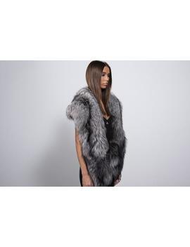 Fur Shawl Real Fox Fur Shawl Silver Fox by Etsy