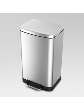 40 Ltr Rectangle Step Trash Can   Stainless Steel   Threshold™ by Threshold