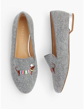 Ryan Novelty Loafers   Embroidered Holiday Dachshund Ryan Novelty Loafers   Embroidered Holiday Dachshund by Talbots
