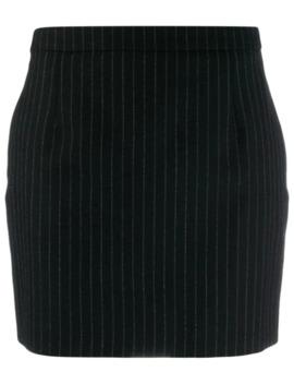 Pinstriped Mini Skirt by Saint Laurent