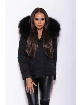 Raccoon Fur Parka Coat   Matching Fur by Etsy