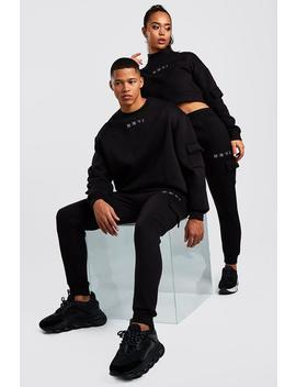 Hers Crop Sweat & Cargo Jogger Set by Boohoo