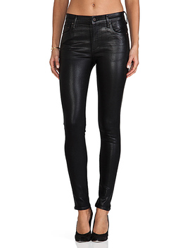 Rocket High Rise Coated Skinny In Black by Citizens Of Humanity