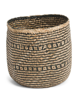 Medium Natural Seagrass Basket by Tj Maxx