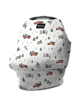 Mickey And Minnie Mouse Holiday Baby Seat Cover By Milk Snob | Shop Disney by Disney