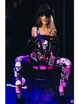 Skull Bouquet Overalls Bm Fit   Limited by Black Milk