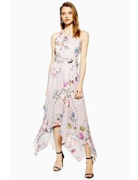 **Pink Printed Strappy Maxi Dress By Lace & Beads by Topshop