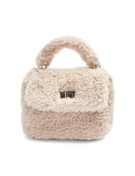Cozy Faux Shearling Grab Bag by Topshop
