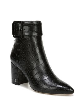 Hardee Croc Embossed Pointed Toe Buckle Bootie by Circus By Sam Edelman