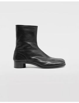Tabi Leather Ankle Boots by Maison Margiela