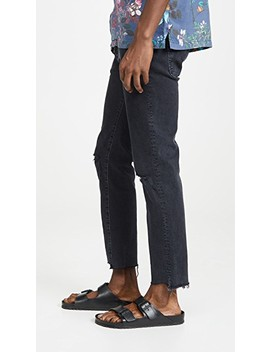 The Neat Ankle Step Fray Denim In Soul Taker Wash by Mother