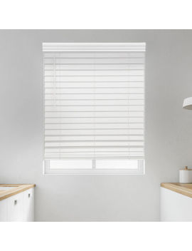 "Jc Penney Home Premium 2 1/2"" Cut To Width Cordless Faux Wood Blinds by Jcp Home"