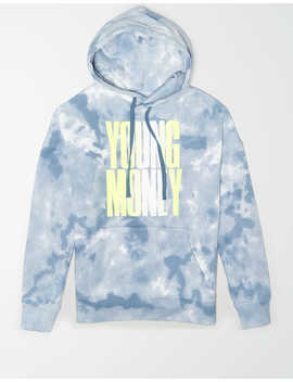 Ae X Young Money Drop Shoulder Tie Dye Hoodie by American Eagle Outfitters