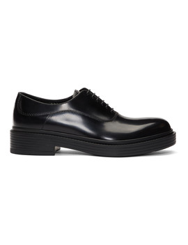 Black Vintage Style Oxfords by Giorgio Armani