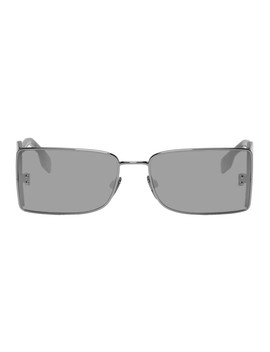 Gunmetal 'b' Sunglasses by Burberry
