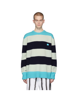 Multicolor Wool Block Stripe Nimah Sweater by Acne Studios