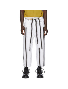 White & Black Spray Baggy Jeans by Eckhaus Latta
