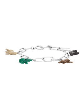 Silver Animal Charm Bracelet by Marni