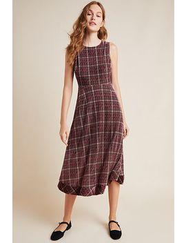 Romy Plaid Velvet Midi Dress by Eri + Ali