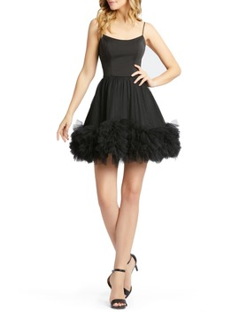 Tulle Hem Fit & Flare Minidress by Mac Duggal
