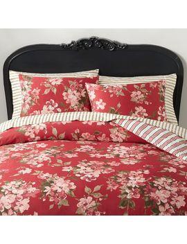 The Emily & Meritt Antoinette Floral Reversible Duvet Cover, Full/Queen, Blush Multi by P Bteen
