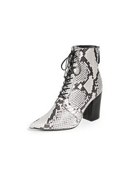 Amelia Lace Up Ankle Boots by Self Portrait