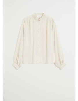 Gathered Details Blouse by Mango